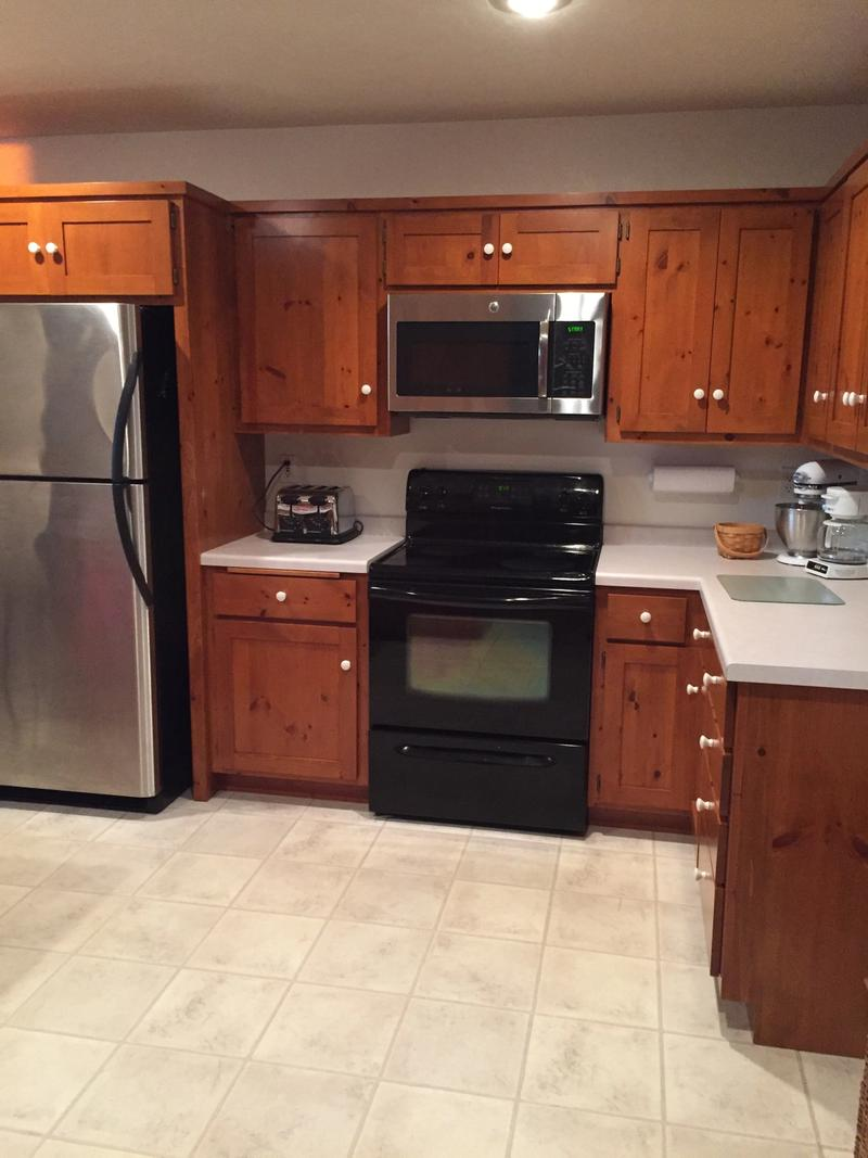 Fully equipped kitchen with new appliances and everything you need to make dinner or create your favorite dessert.