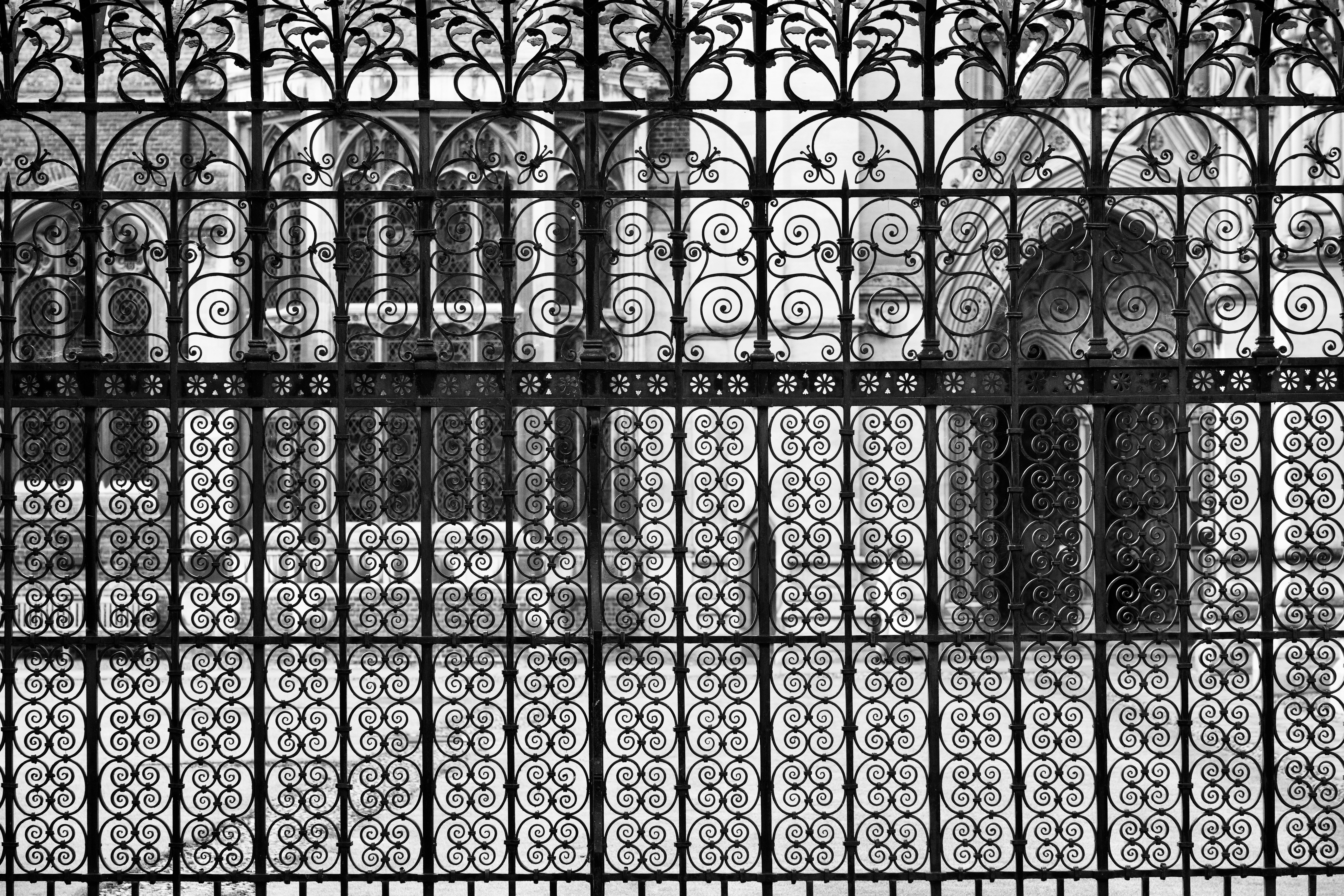 The wrought iron work