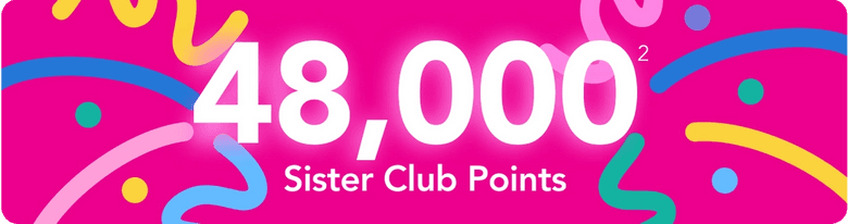 20,000 Sister Club Points