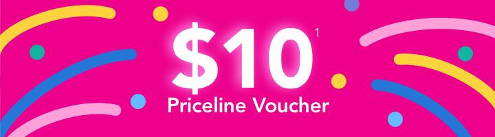 $10 Priceline Voucher