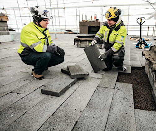 lightweight roofing with clinkaFILL underneath