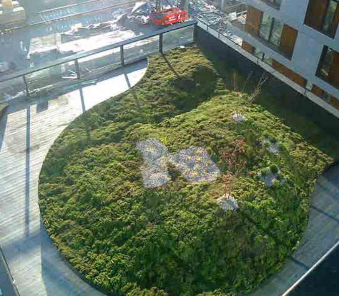 rooftop garden with clinkaFILL under