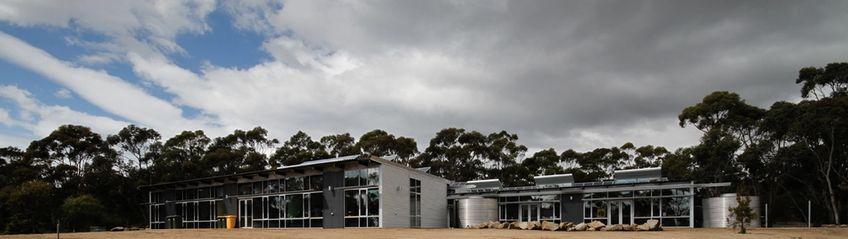 Rainbow over the Hobart sustainability Learning Center