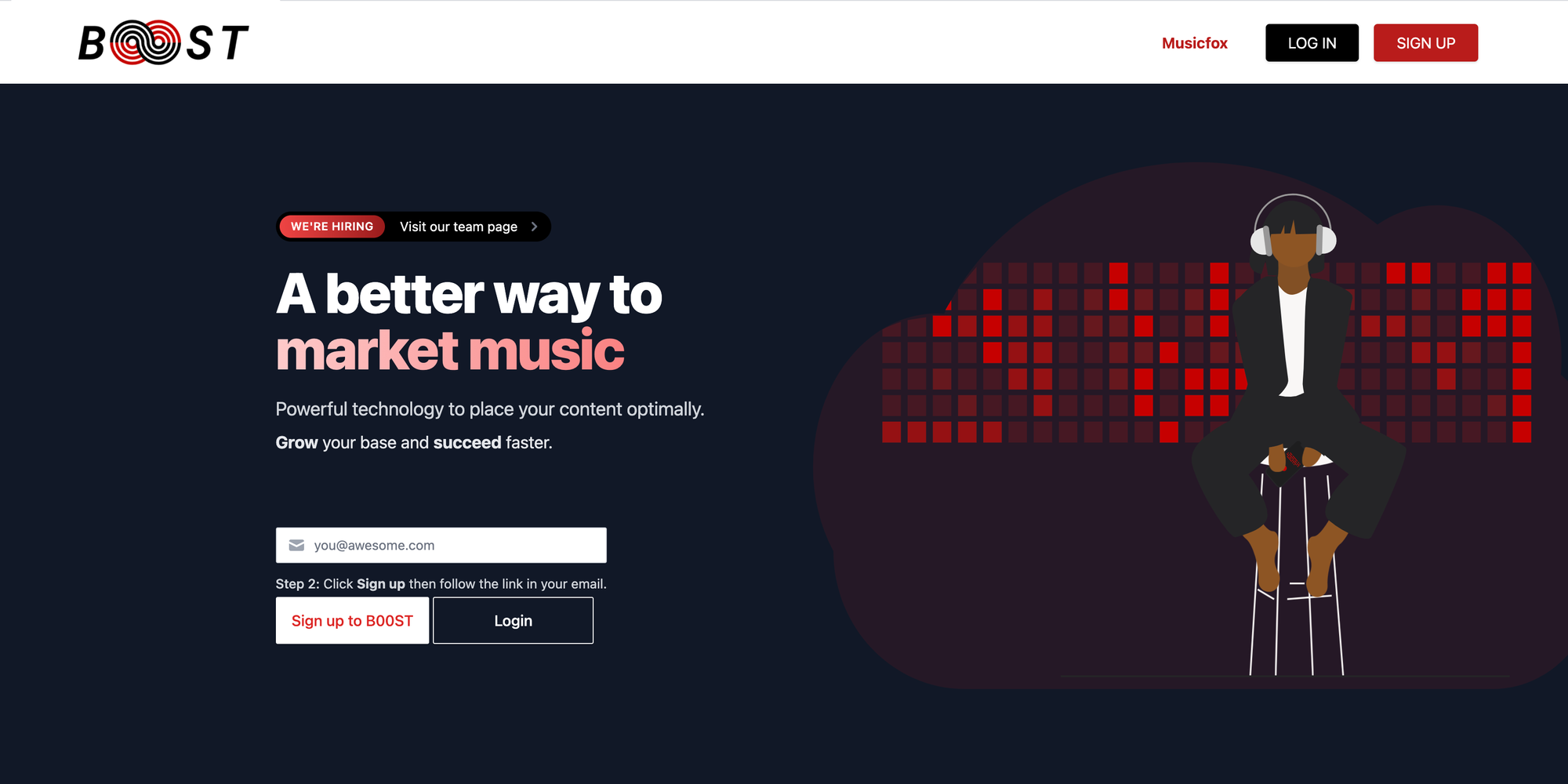 """Introduction for """"B00ST is live"""" article on the Musicfox Slightly-Sharpe blog."""
