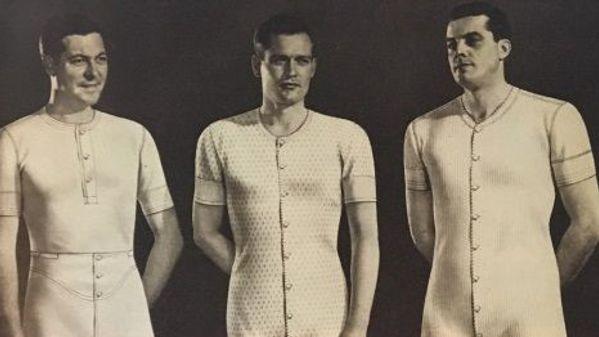 Men wearing undergarments