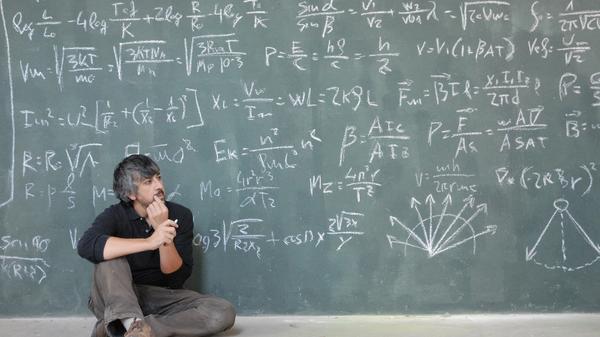 Man at a chalkboard