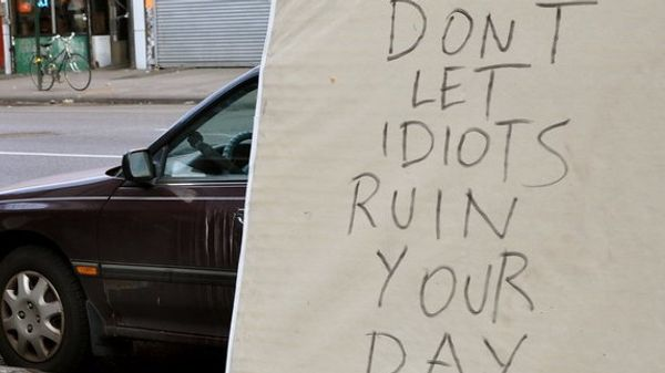 A mattress with the words 'Don't let idiots ruin your day'
