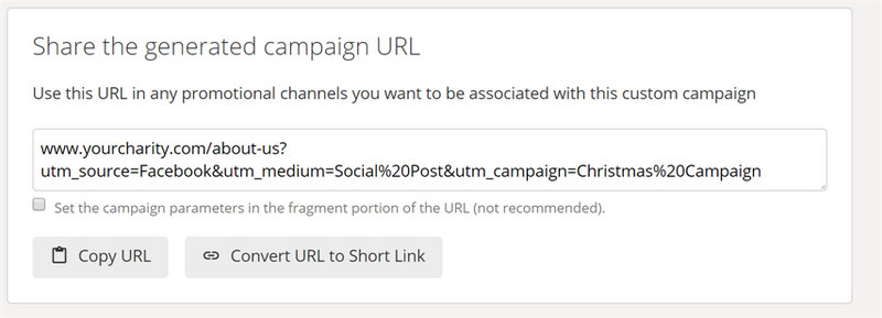 Google Analytics link preview