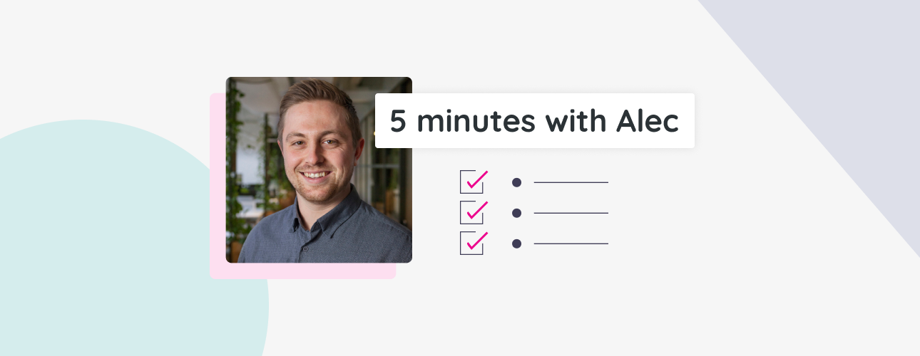 A picture of Alec with an illustration of a to-do list