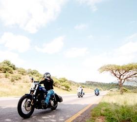 Motorbike cruising