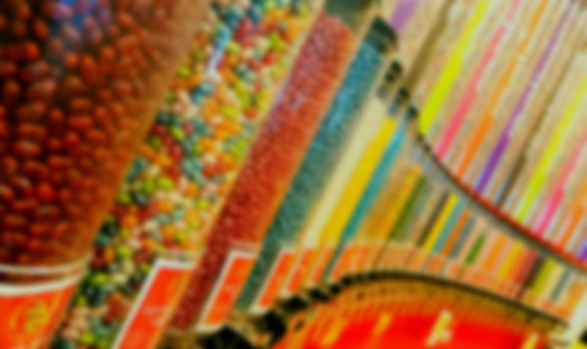 wall of candy dispensers