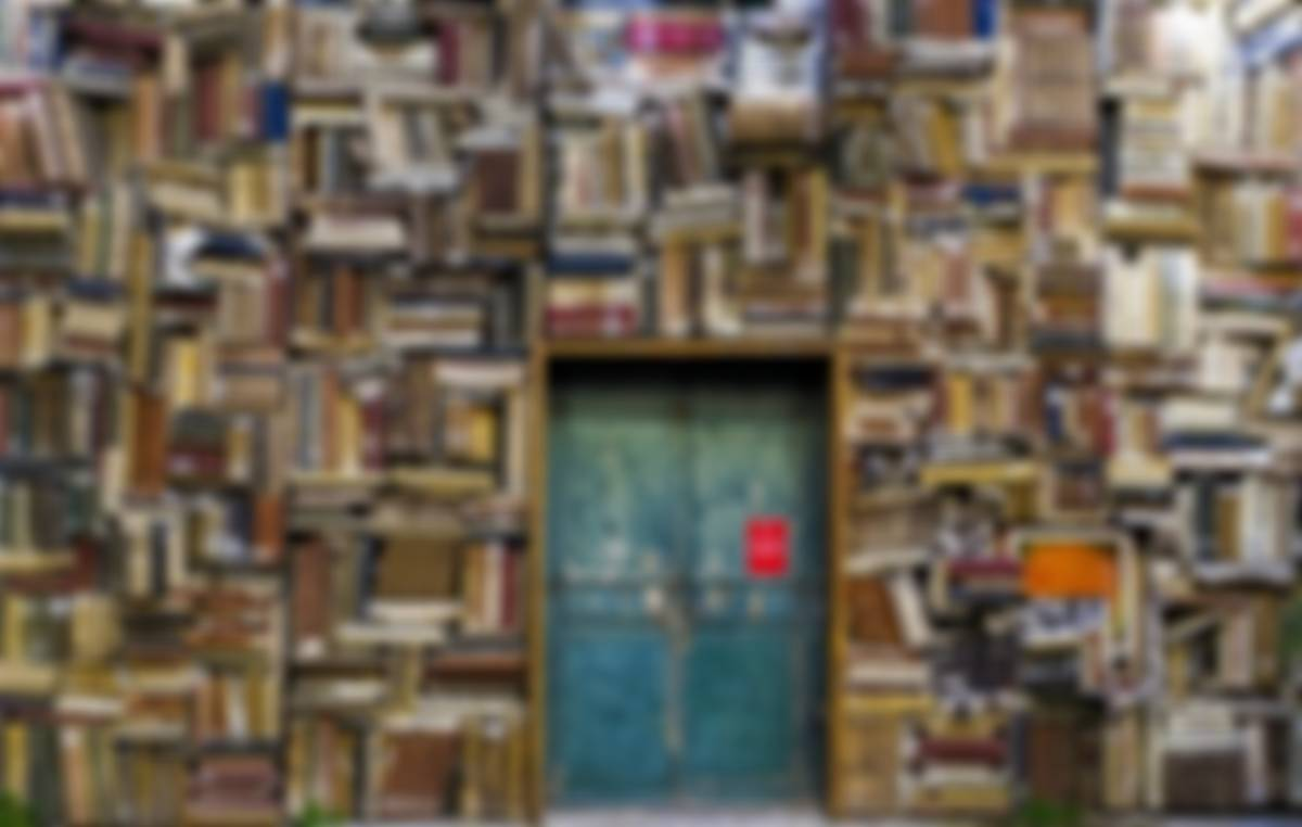 Room with wall to wall books