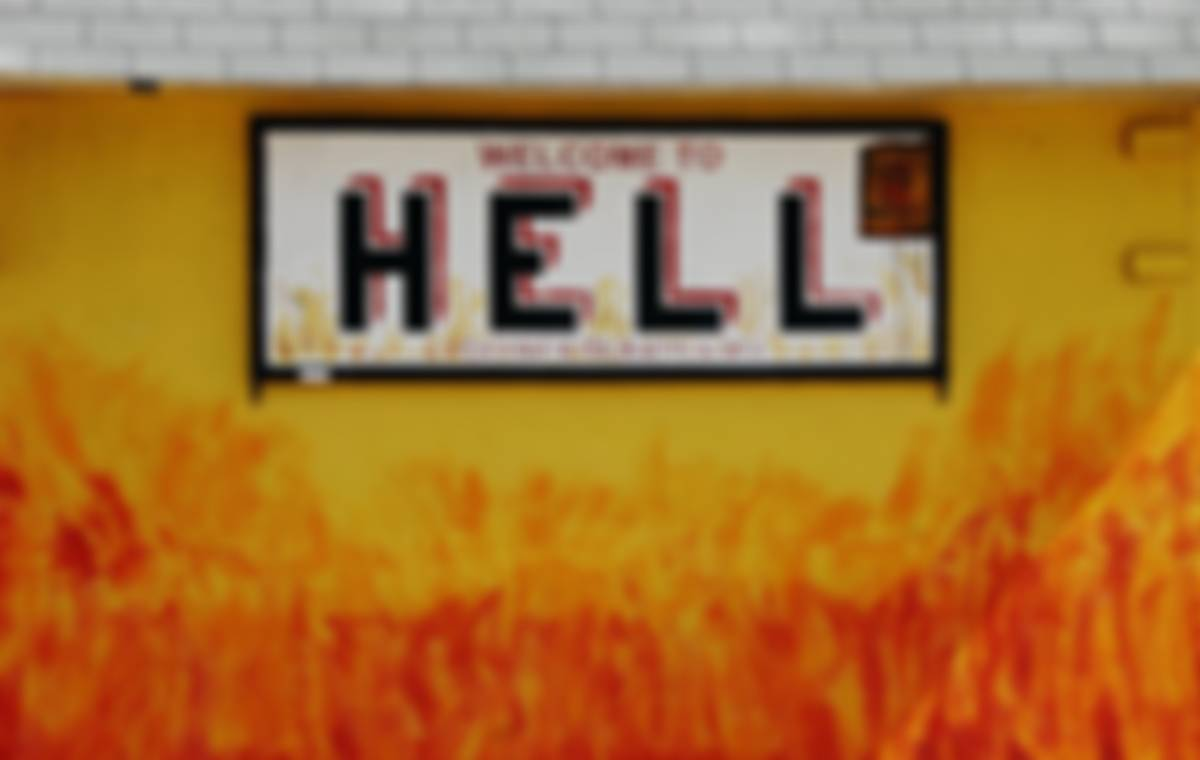 Welcome to Hell Cayman Islands sign