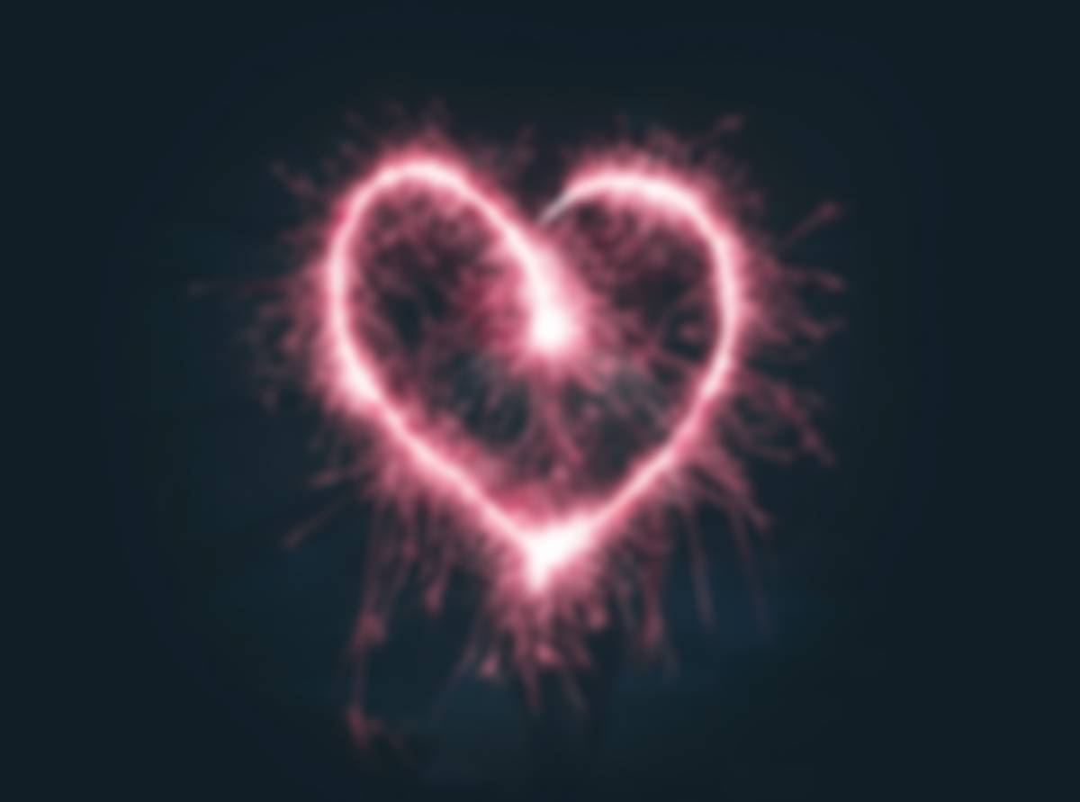 photo of heart made with sparklers