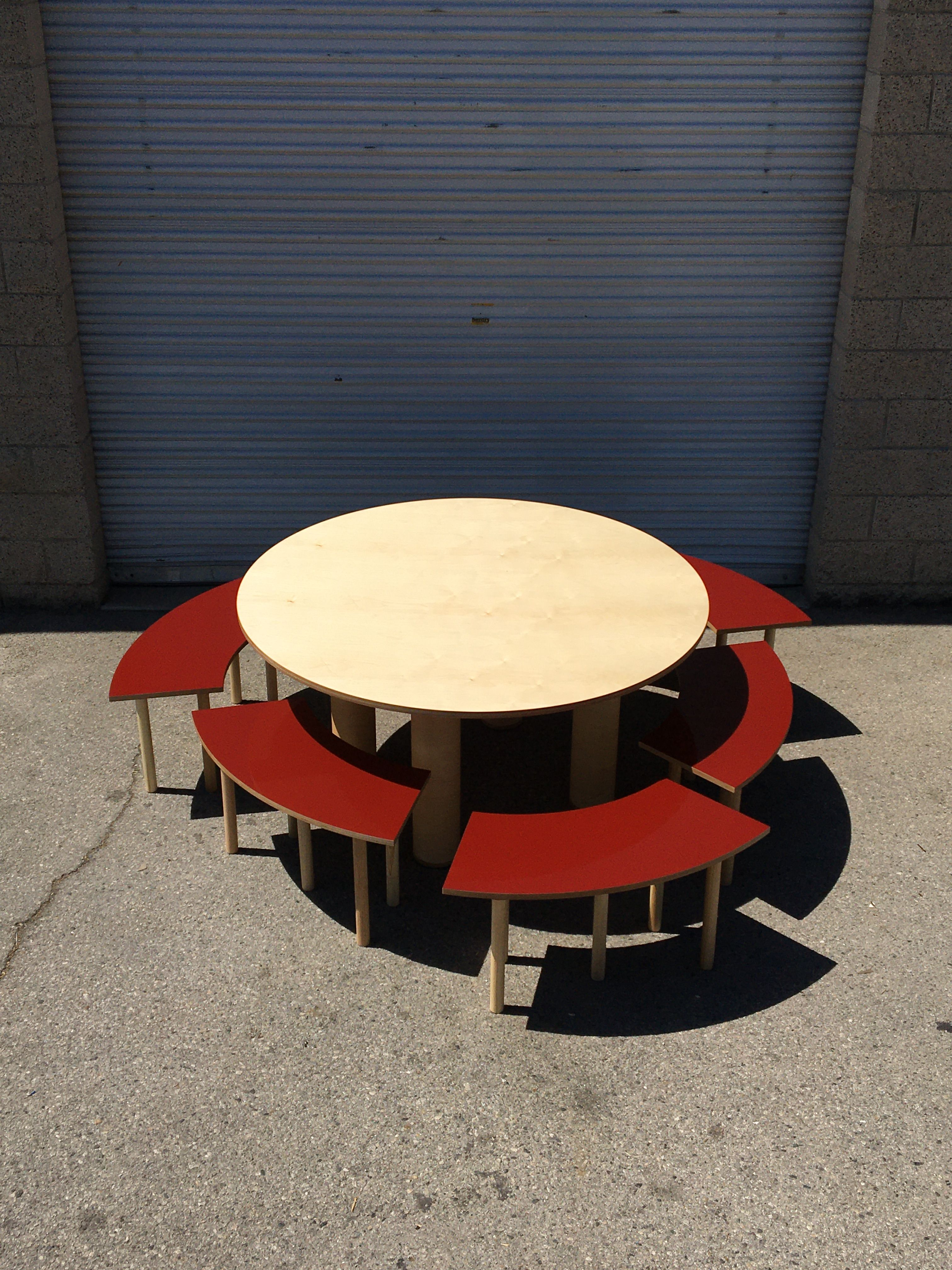 Circle Table + Bench Set product image 4