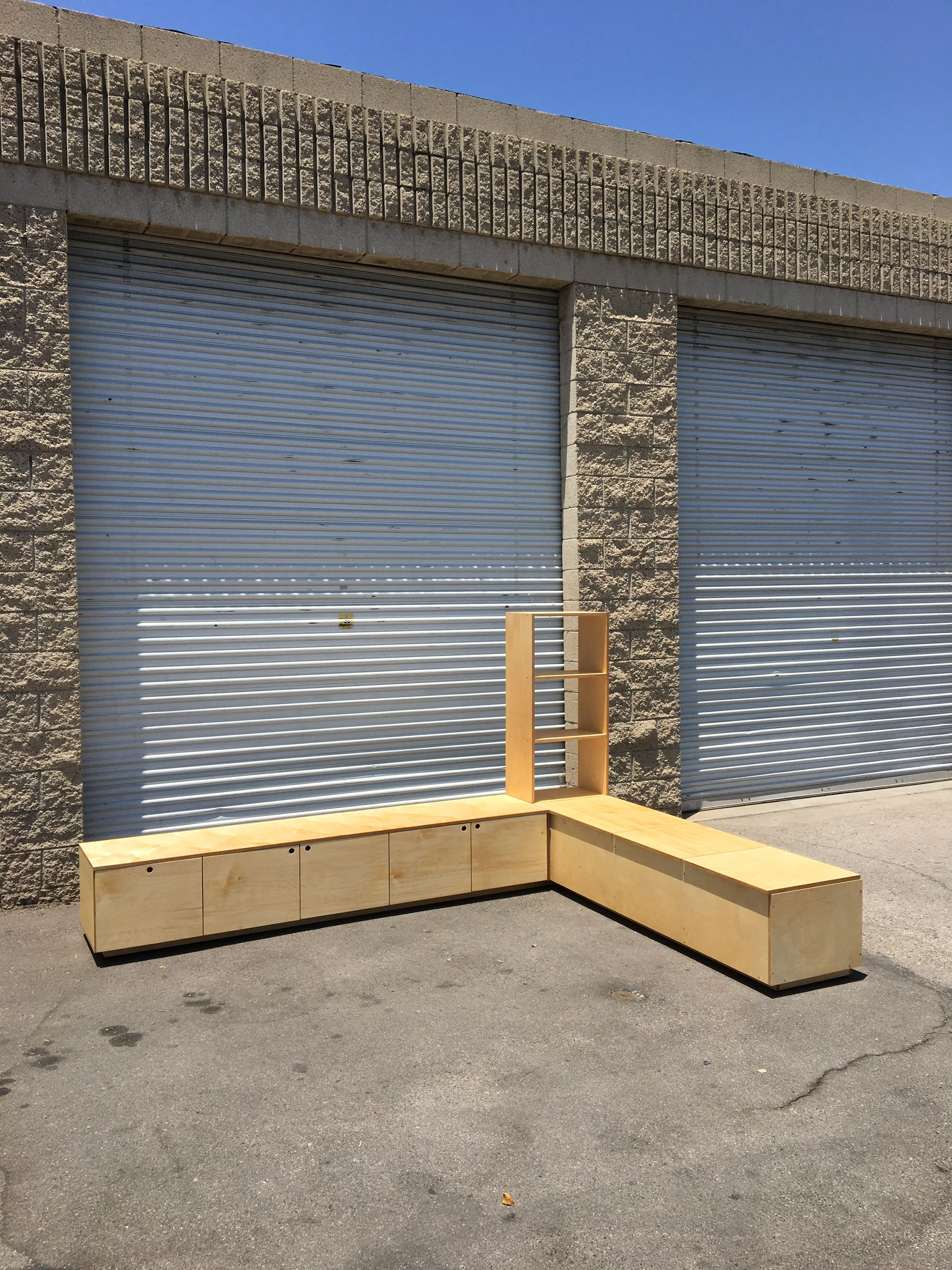 Corner Bench and Storage Unit product image 1