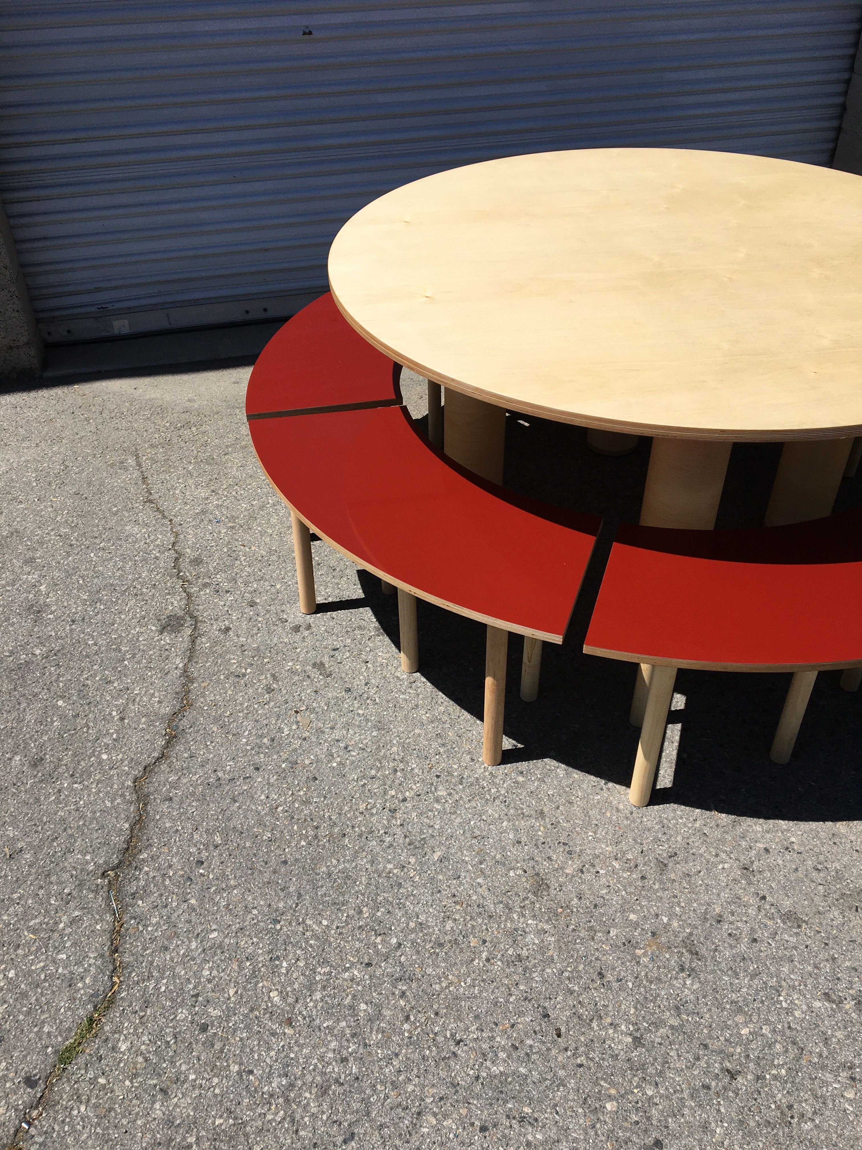 Circle Table + Bench Set product image 1