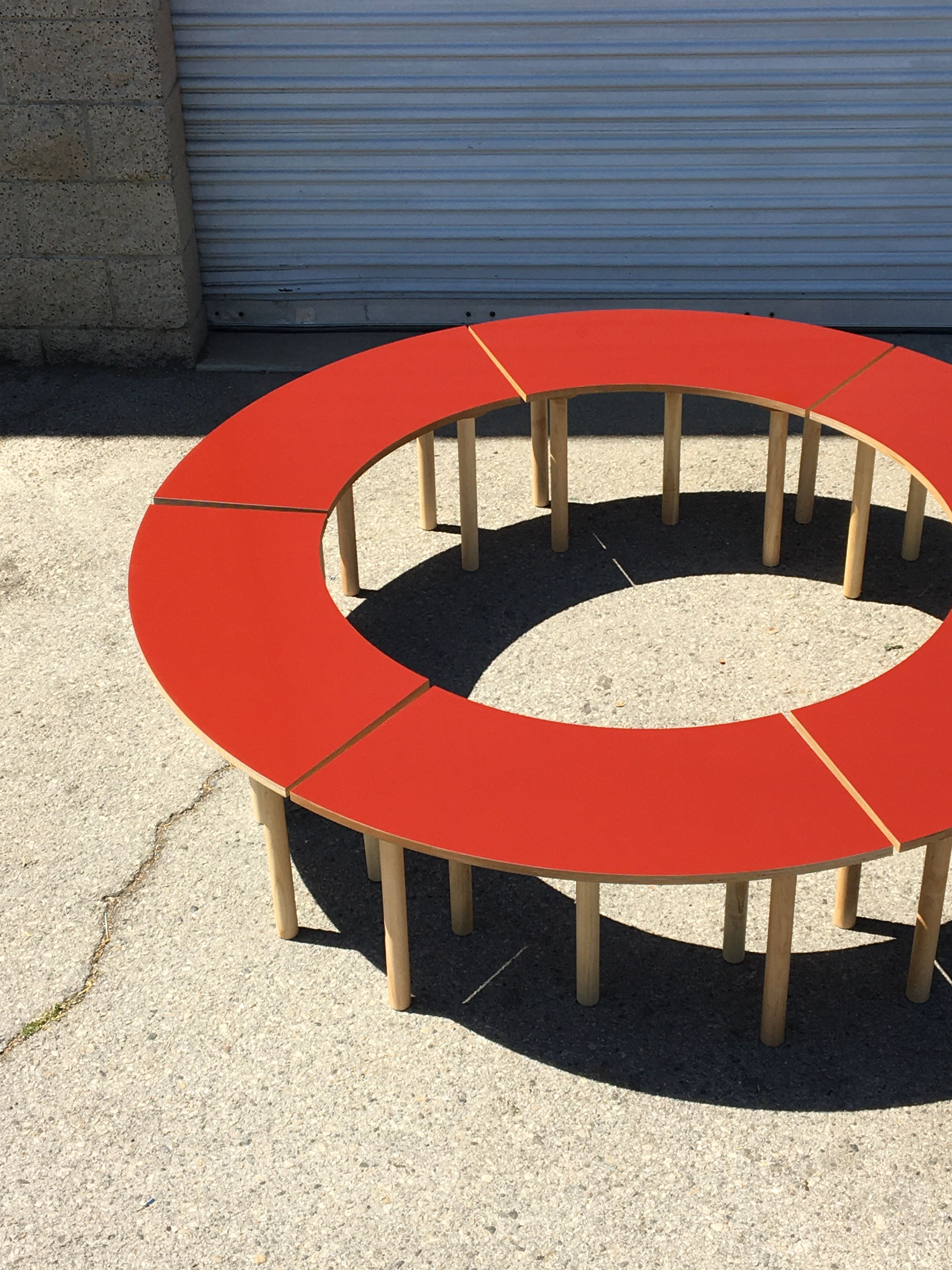 Circle Table + Bench Set product image 15