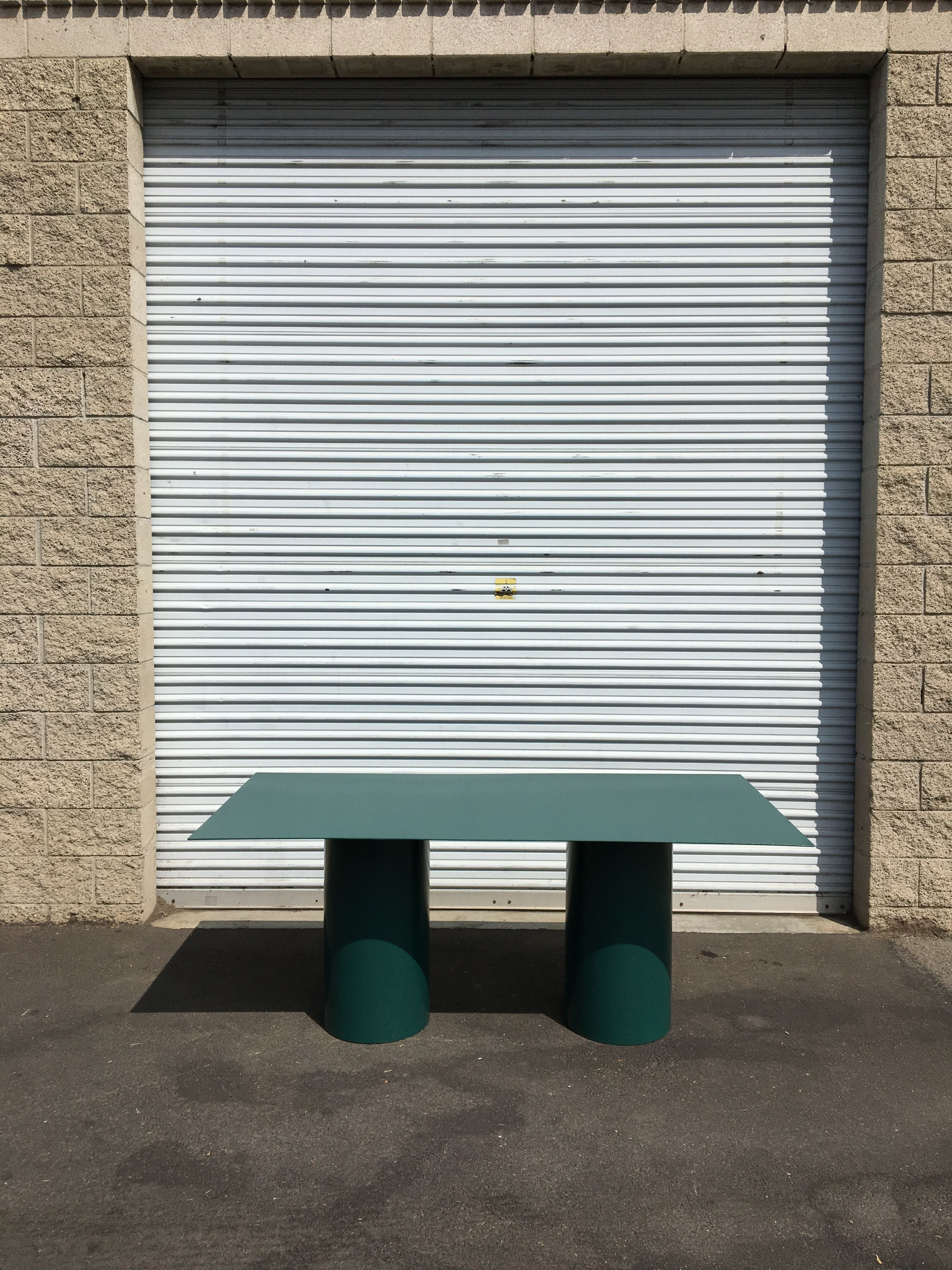 Steel Cylinder Leg Table product image 0