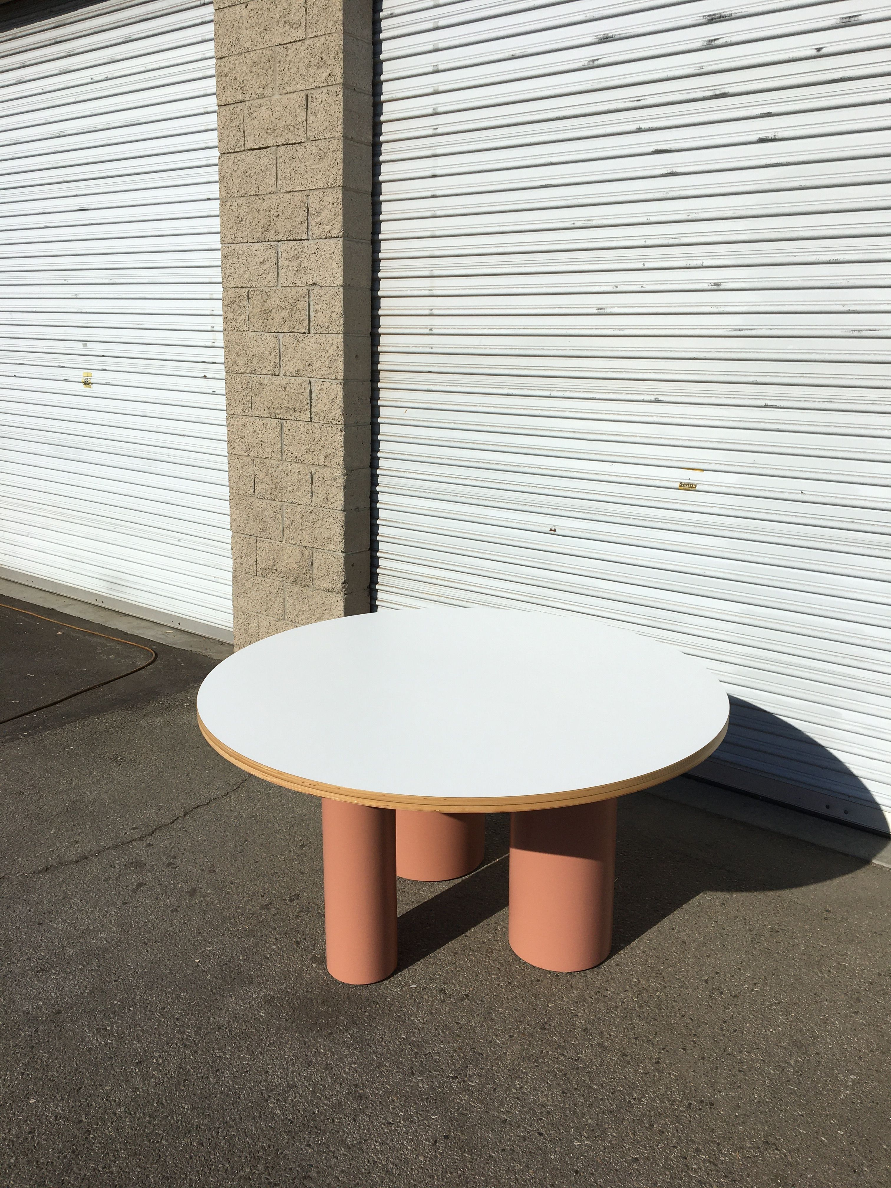 Round Tri-Cylinder Dining Table product image 1