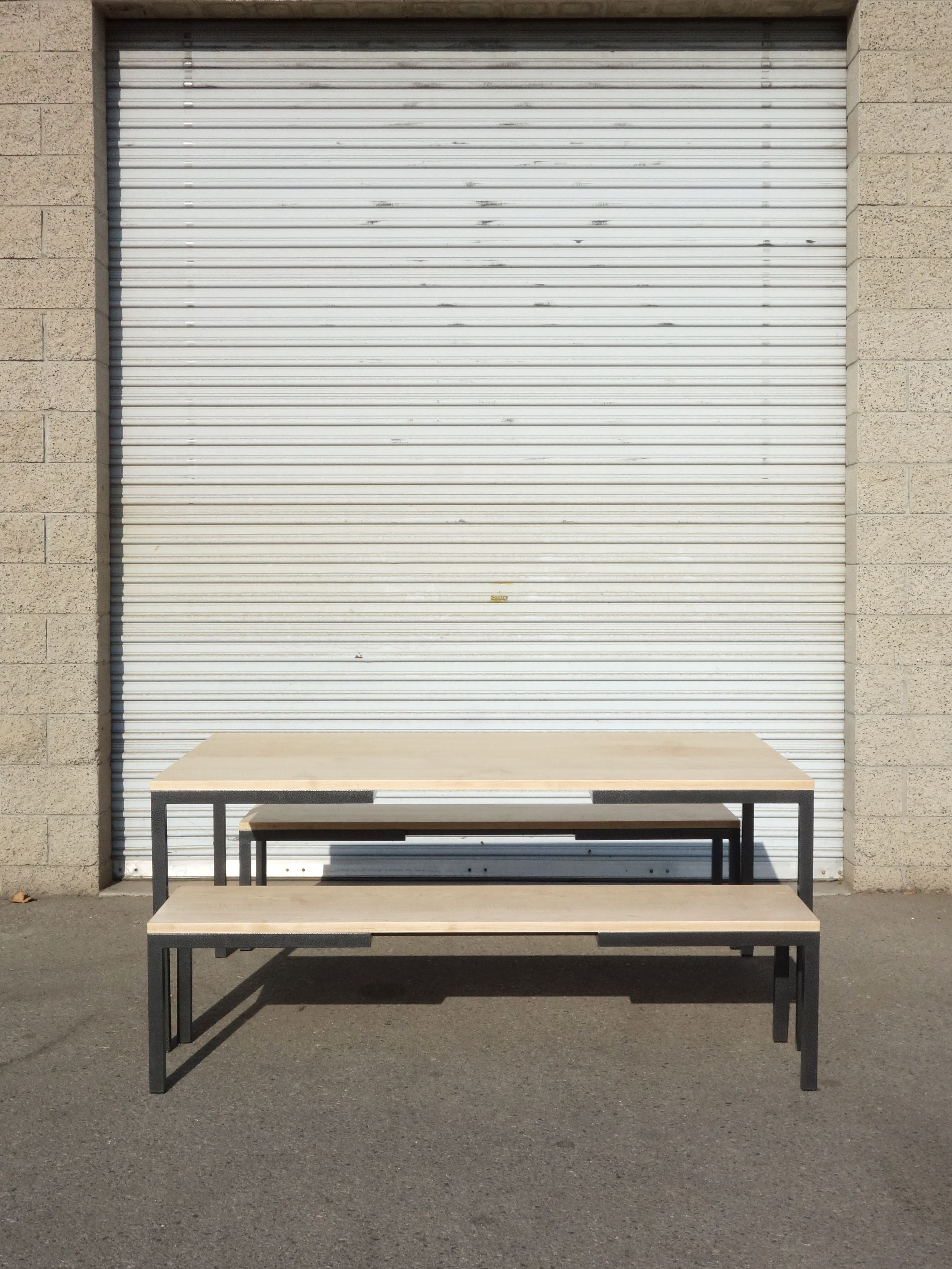 Metal and Maple Dining Set product image 1