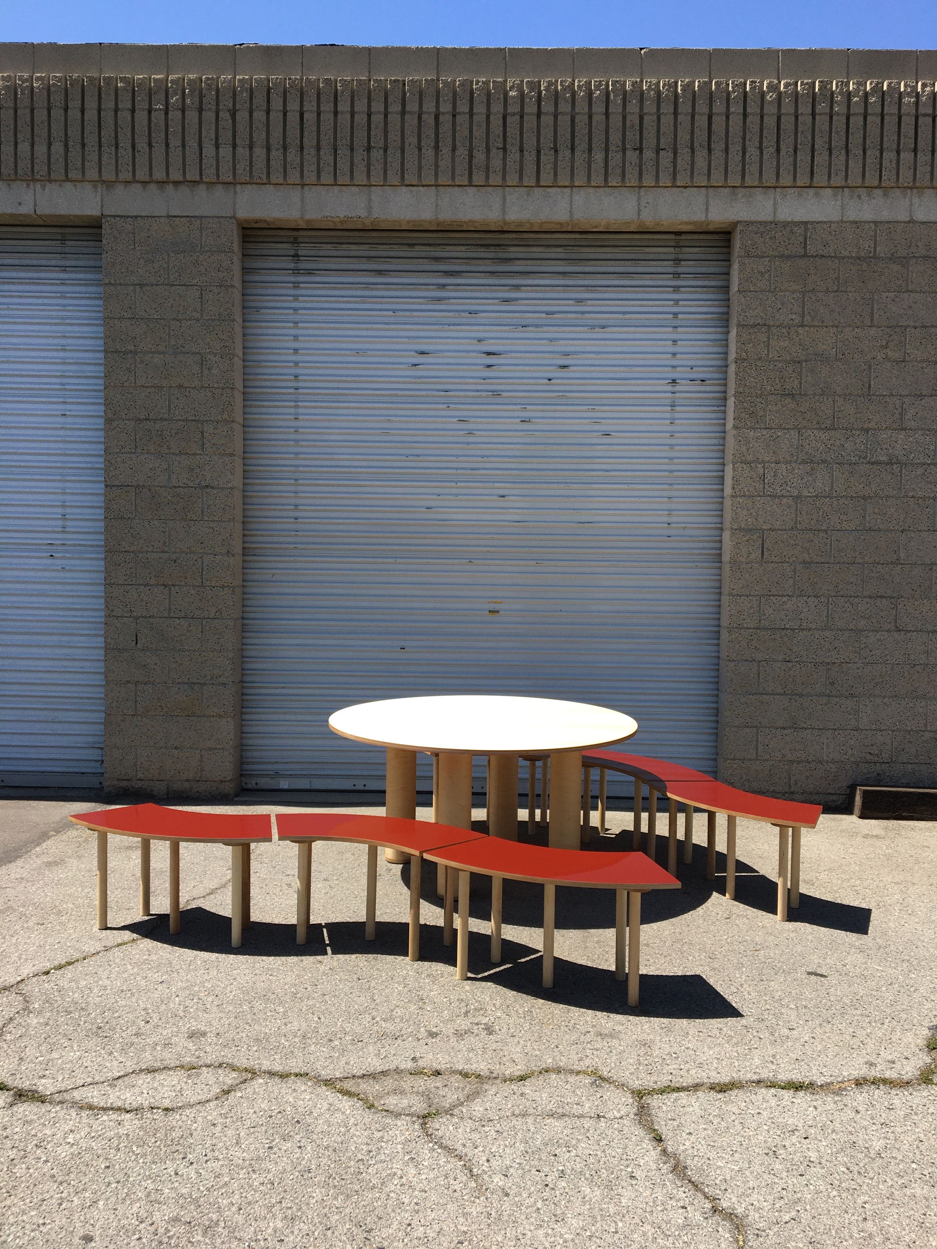 Circle Table + Bench Set product image 6