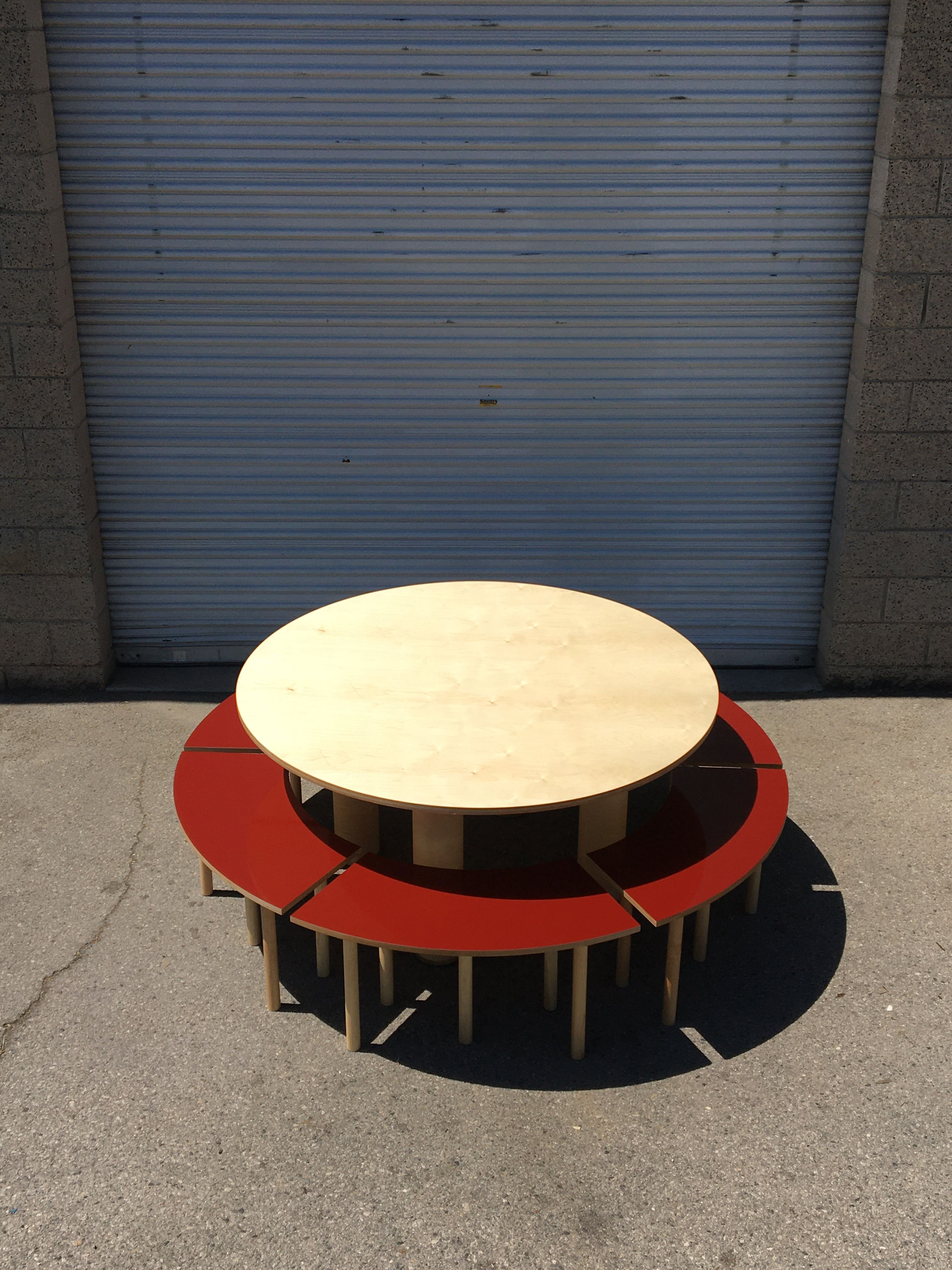 Circle Table + Bench Set product image 0
