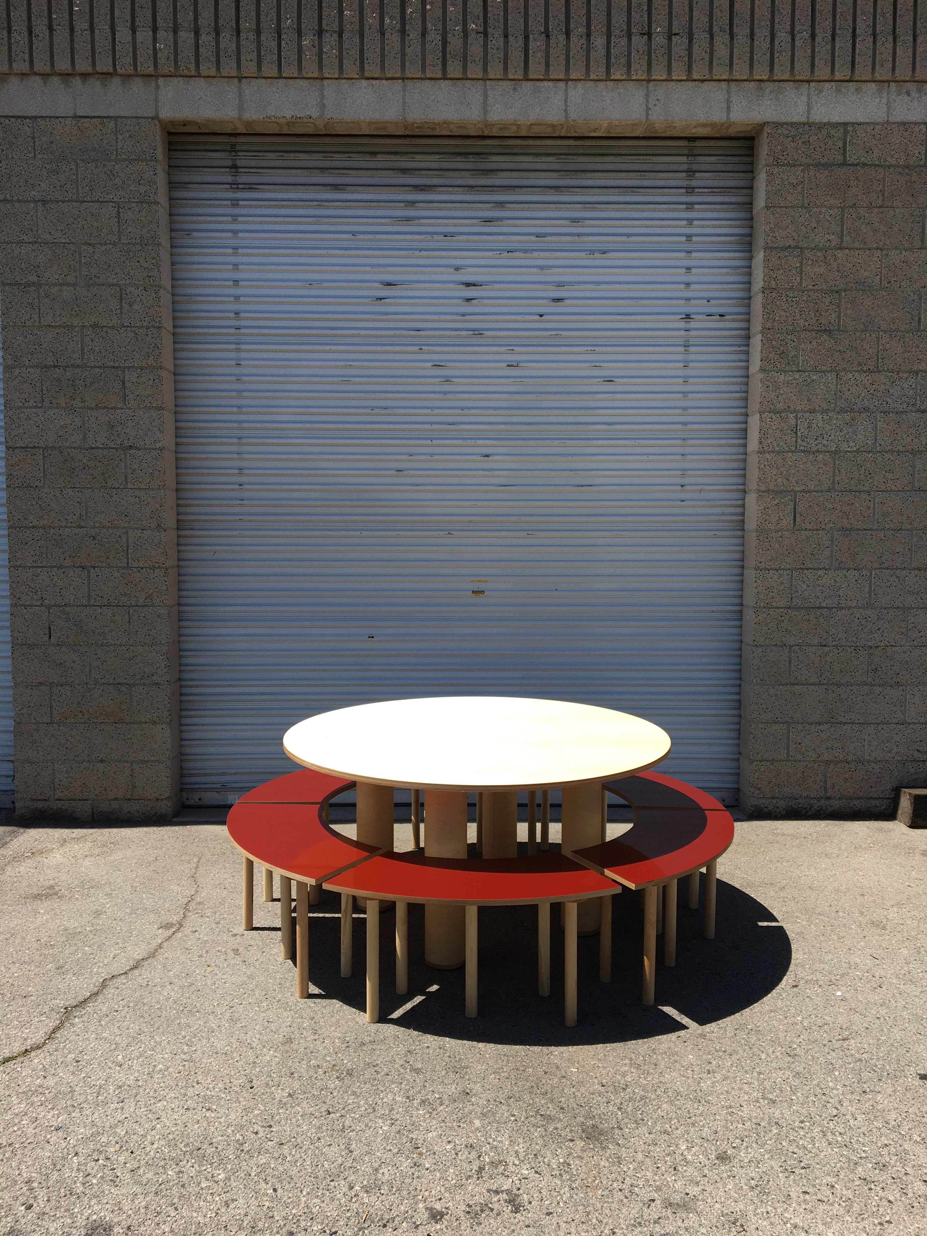 Circle Table + Bench Set product image 2