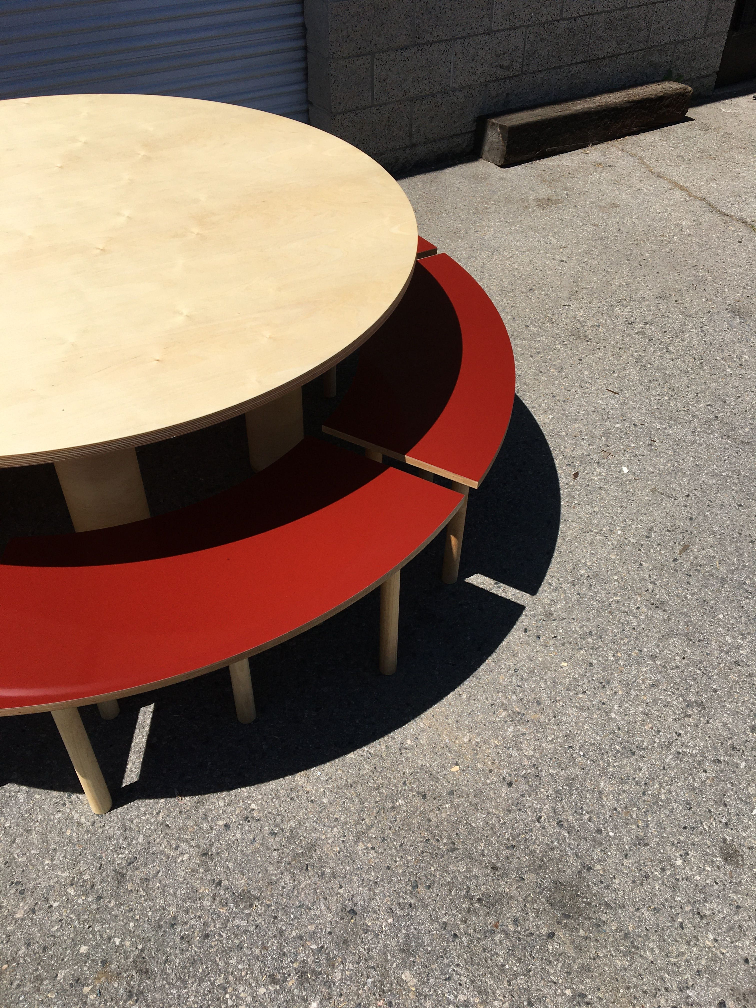 Circle Table + Bench Set product image 3