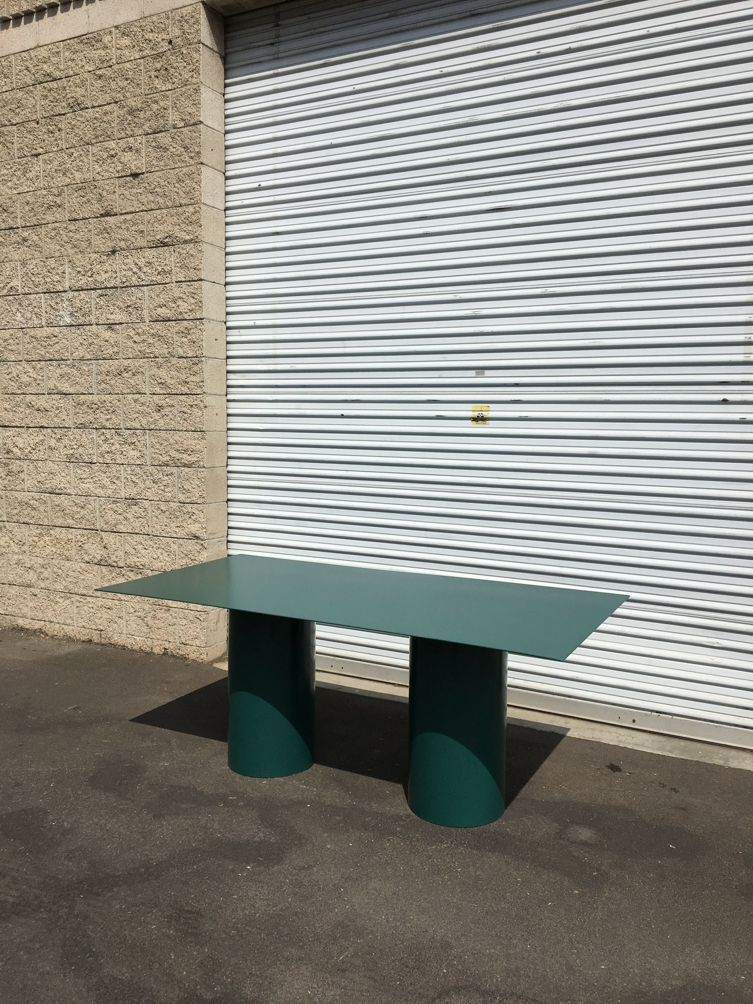 Steel Cylinder Leg Table product image 1