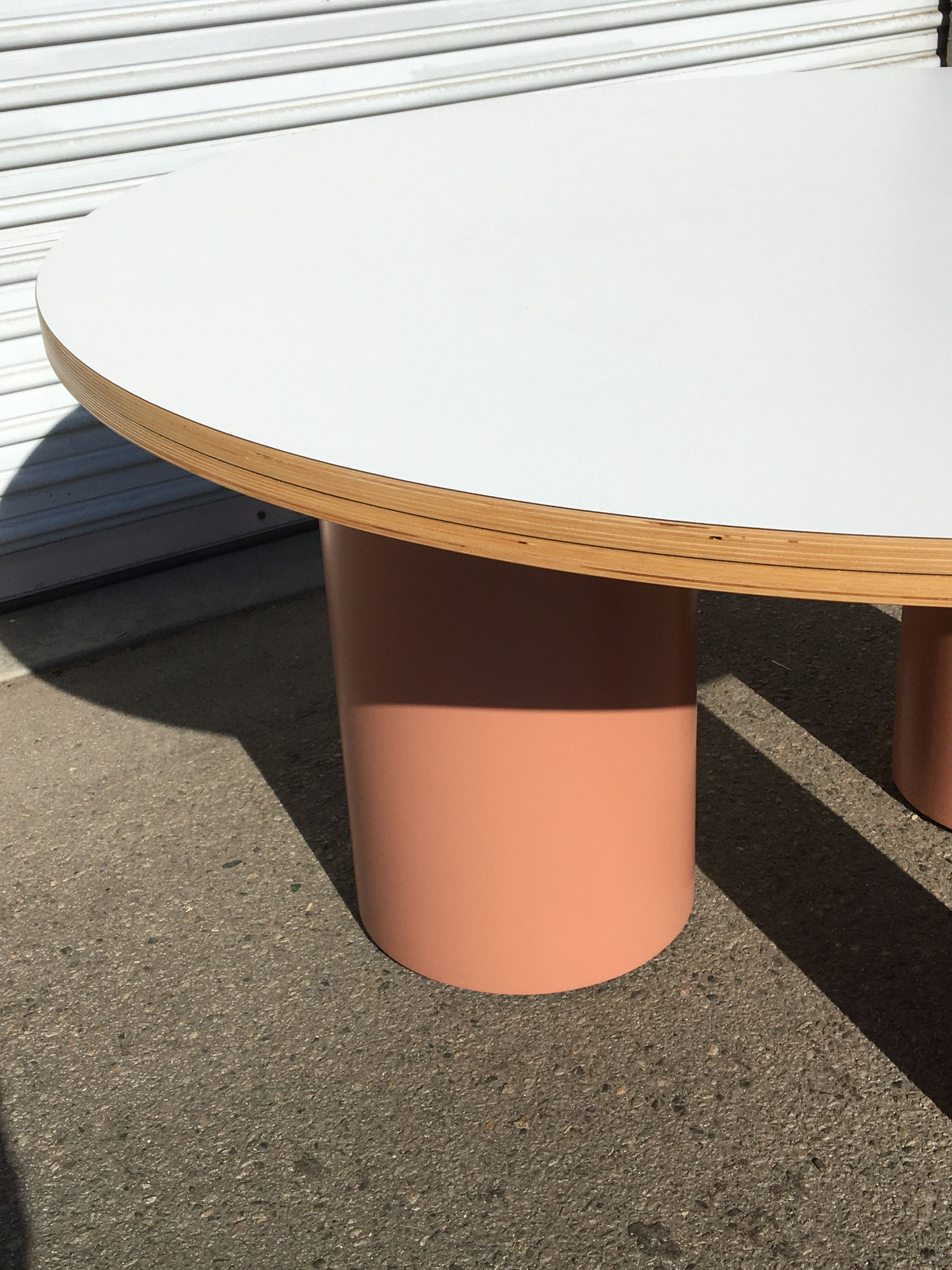 Round Tri-Cylinder Dining Table product image 2