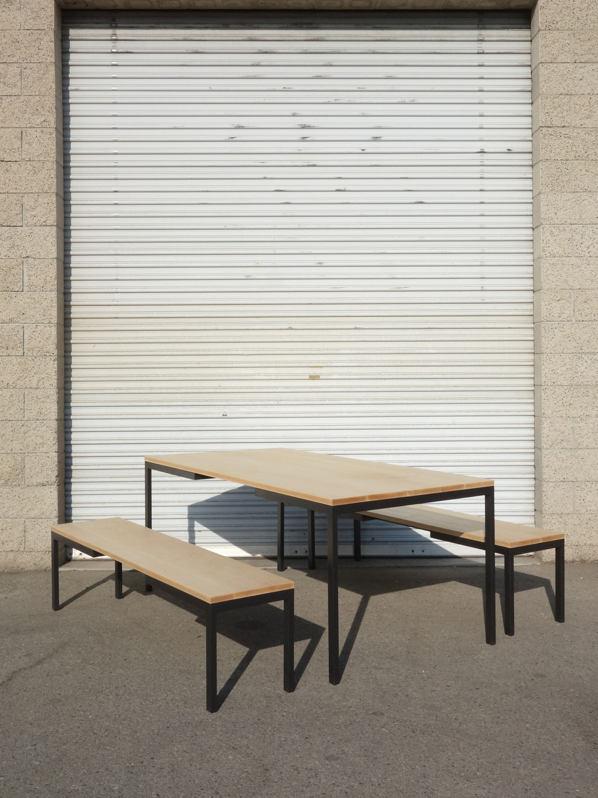 Metal and Maple Dining Set product image 0