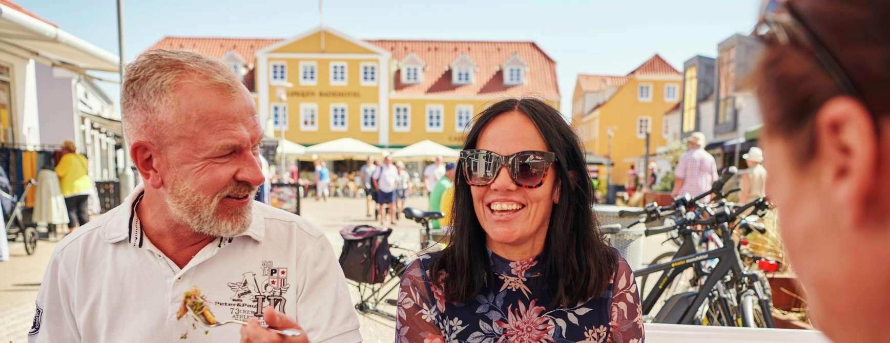 Det er veldig mye godt å få både på tallerken og i glass når du har føttene på dansk jord. Foto: Fjord Line