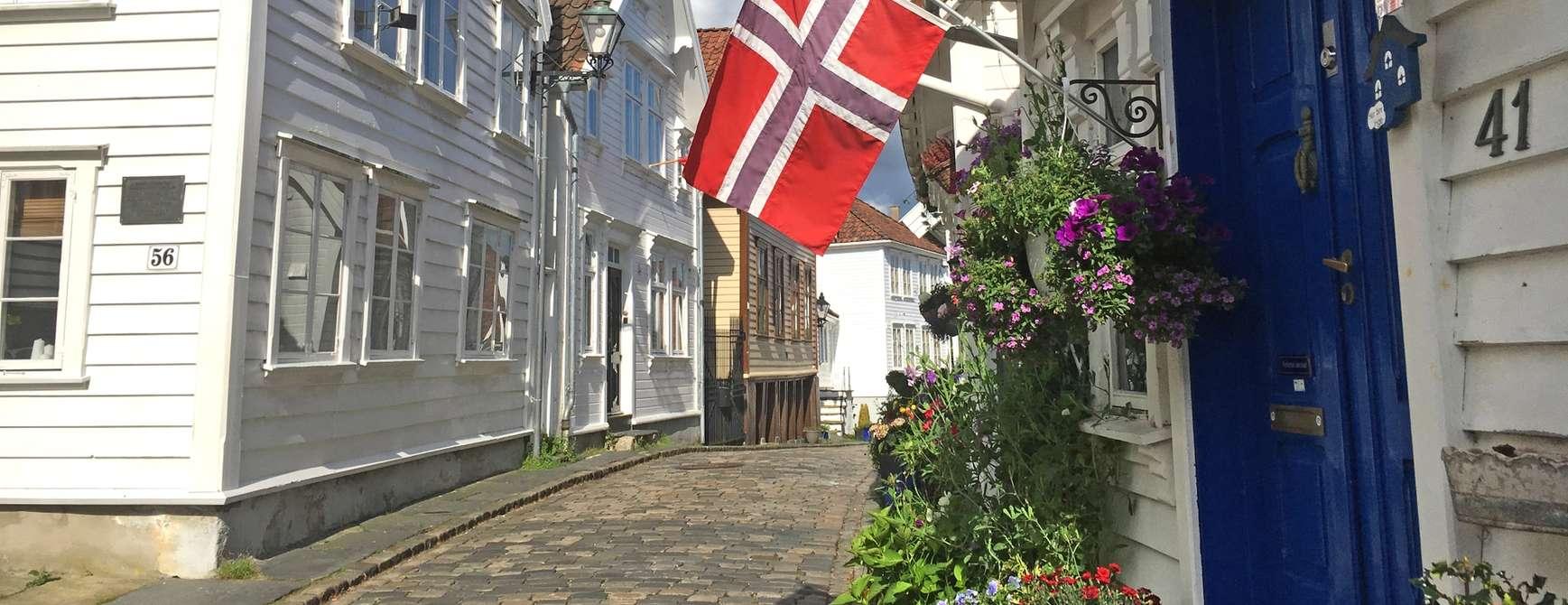 Blir ikke særlig koseligere enn i gamle Stavanger. Foto: Fjord Line
