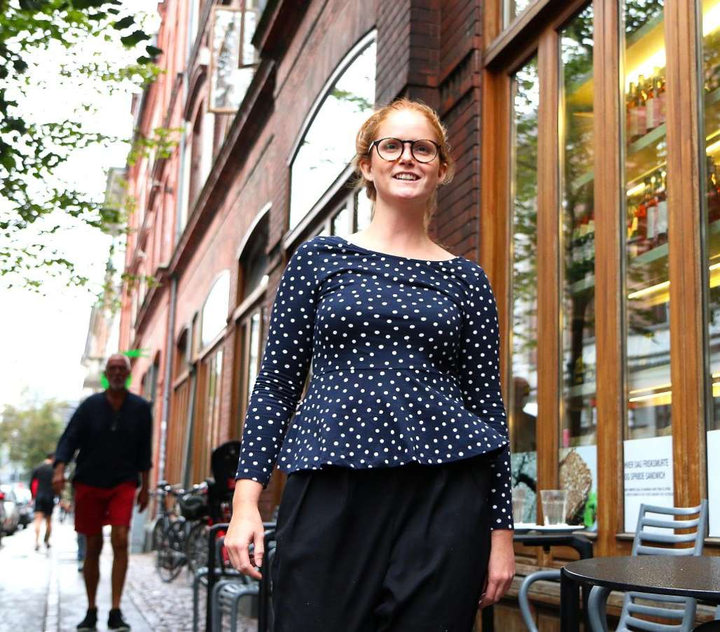 Matbyen:Prosjektleder Zenia Strunck Mikkelsen i Food Festival, kan skilte med mer enn 25.000 besøkende i løpet av de tre dagene festivalen varer. Foto: Flemming Hofmann Tveitan/Fjord Line