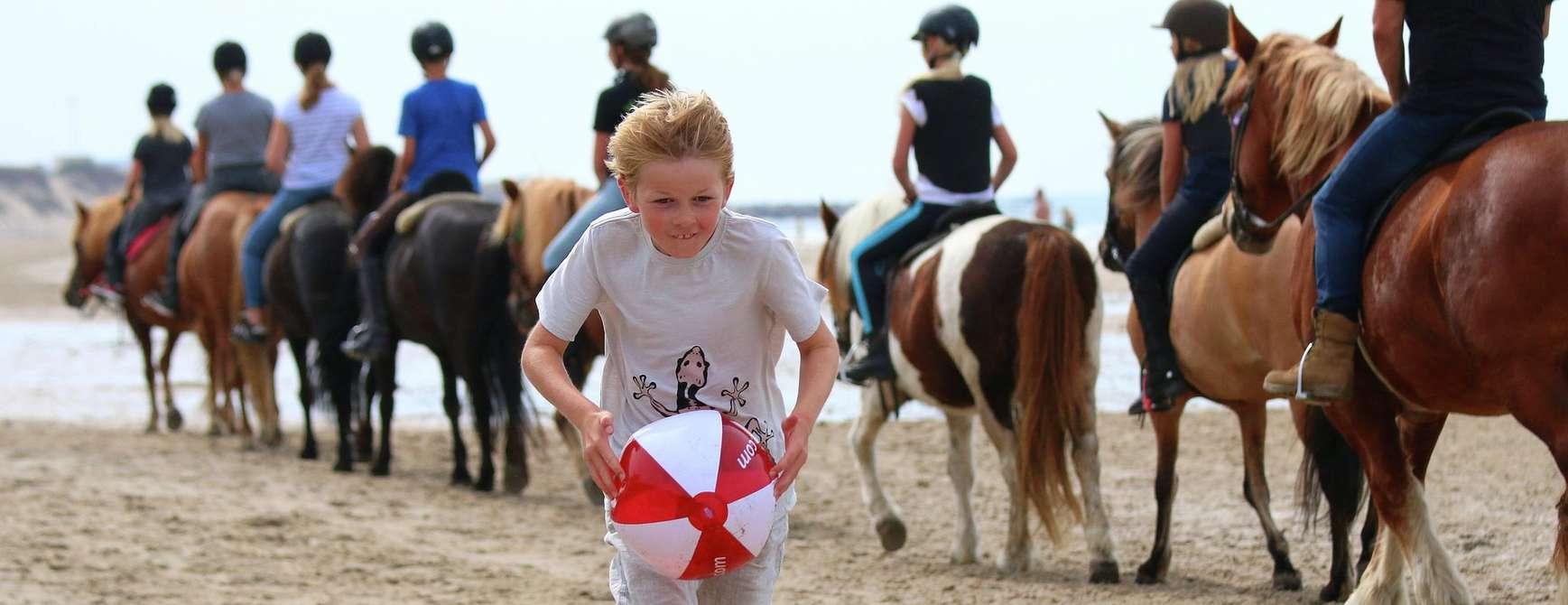 Barna storkoser seg på den langstrakte stranden ved Skallerup Seaside Resort