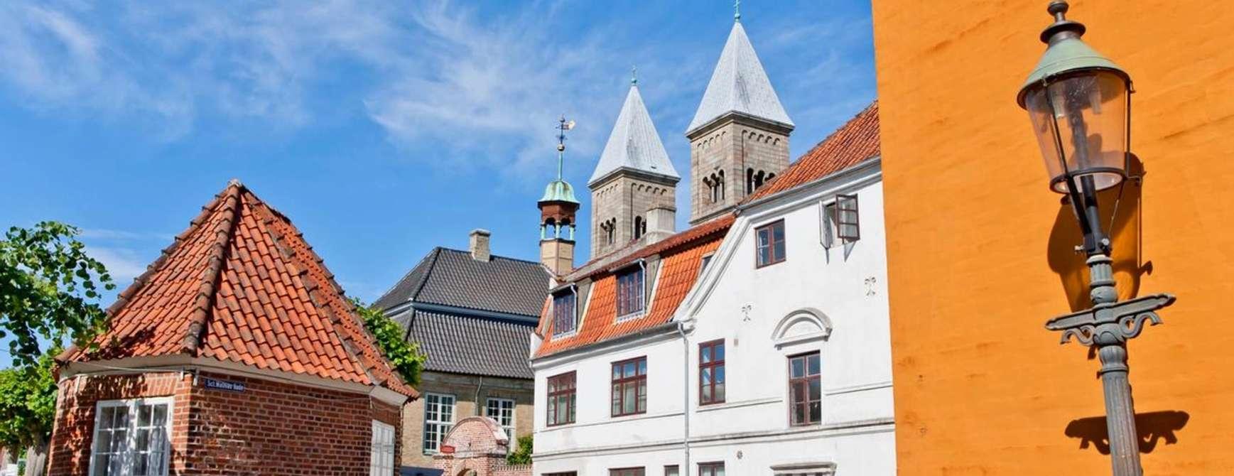 Gamle og koselige gateløp i Viborg. Foto: Visit Denmark
