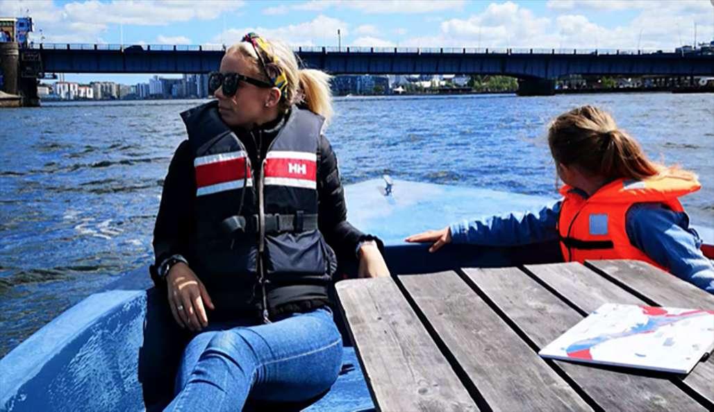 På båttur i Aalborg