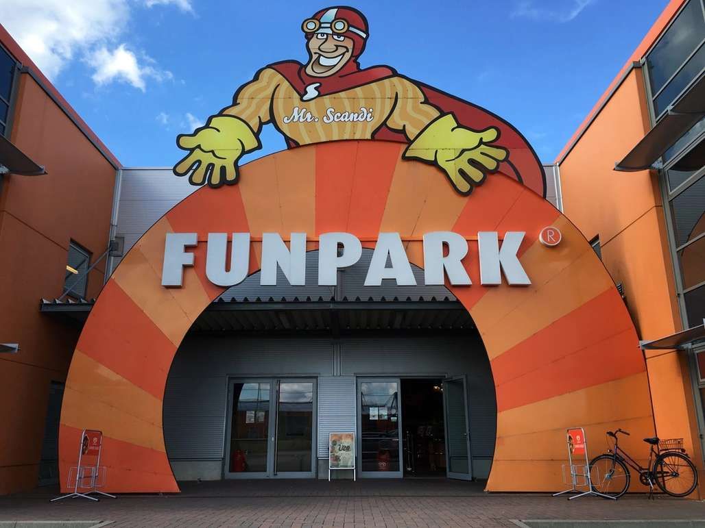Inngangspartiet til lekelandet Funpark.