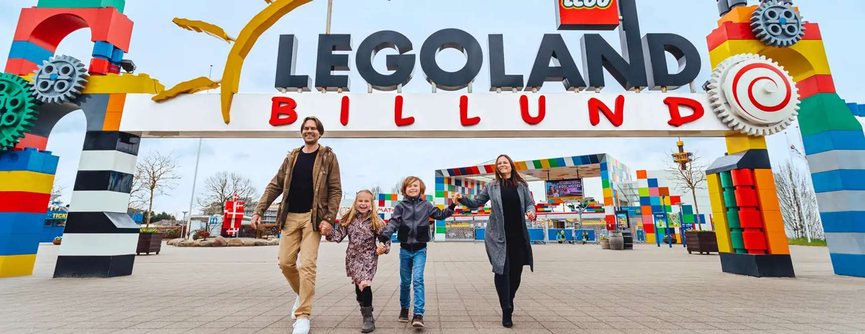 Legoland inngangen til parken