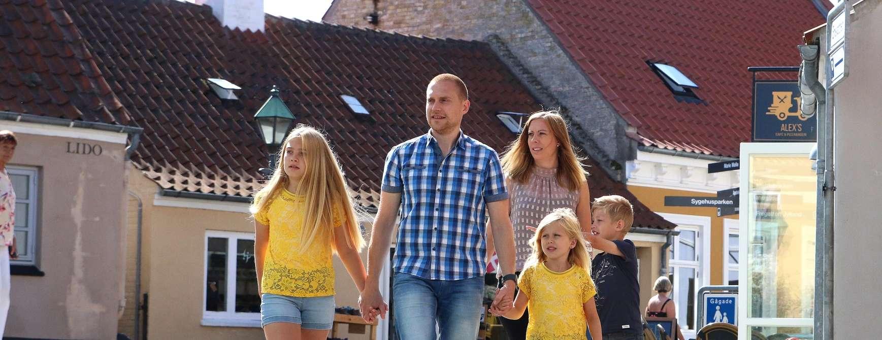 Familien Hetland fra Jæren besøkte Djursland og storkoste seg, stor som lien. Familien har definitivt fått seg et nytt favorittområde i Danmark. Foto: Fjord Line