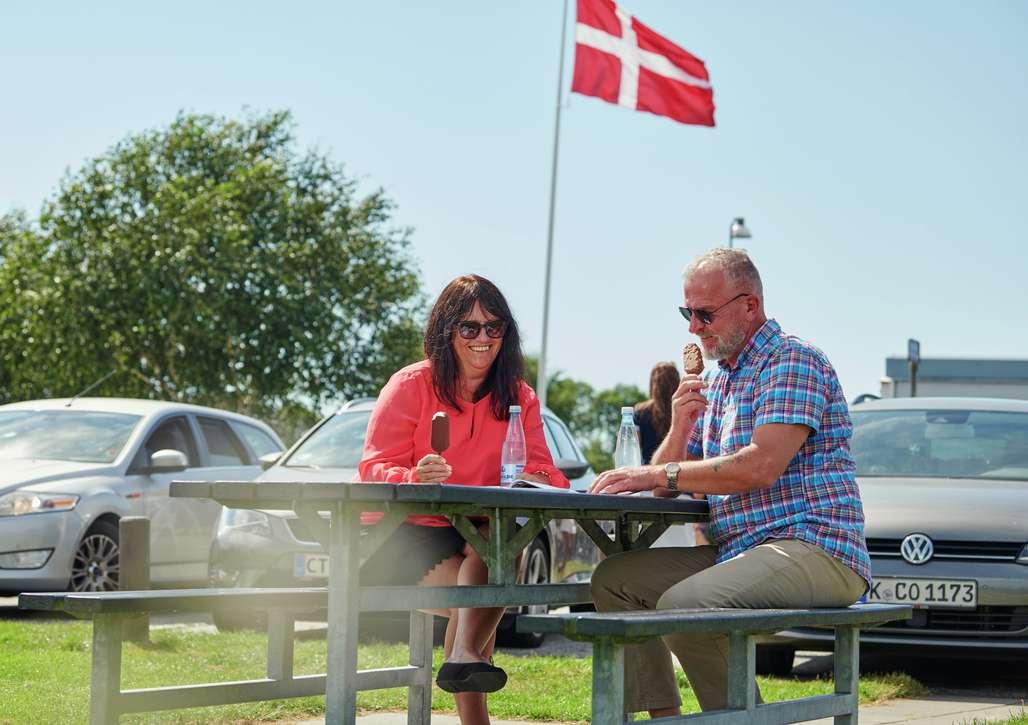 Legg på ruten underveis. Veinettet i Danmark er upåklagelig. Foto: Fjord Line