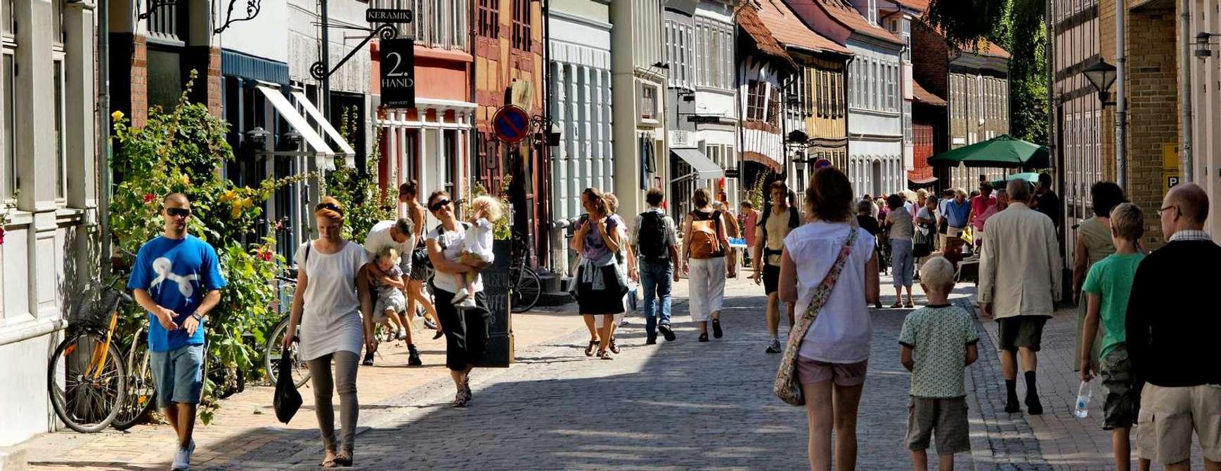 Sjarm i rikt monn. Odense har bøttevis av sjarm. Foto: Visit Denmark