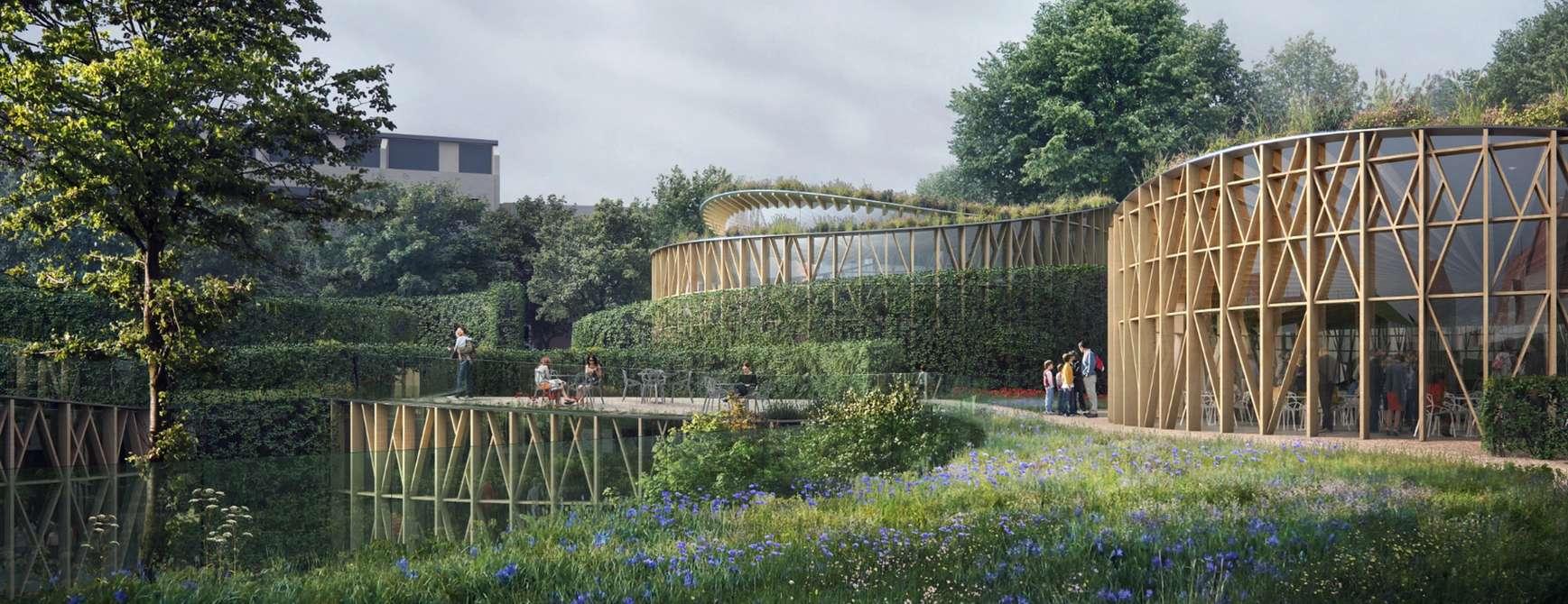 H.C. Andersens Hus i Odense. @Kengo Kuma & Associates, Cornelius Vöge og MASU Planning