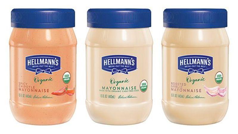 Hellmann's New USDA Certified Organic Mayonnaise flavors
