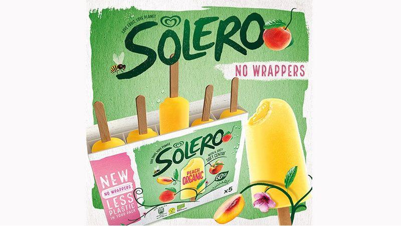 Wraperless Solero ice cream.