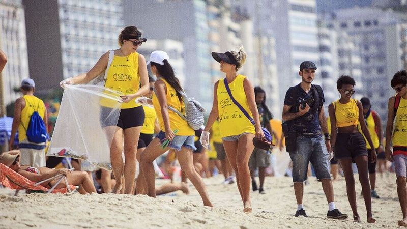 Brazil beach people