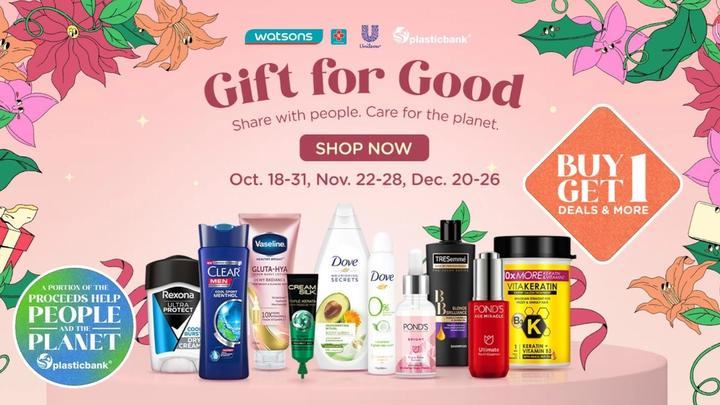 Unilever beauty and personal care deals available in the Gift for Good campaign in partnership with Watsons
