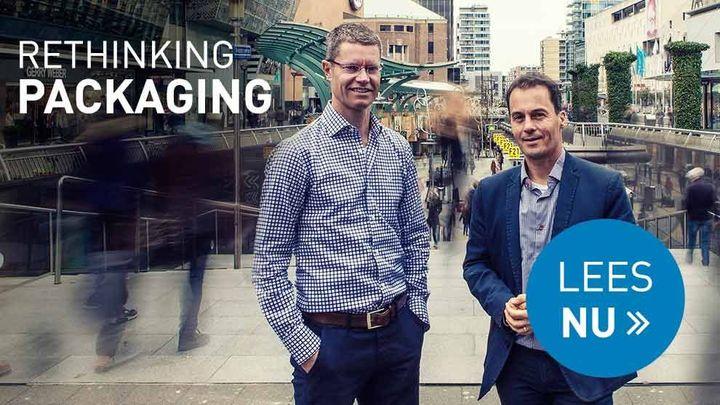 olf van Sprang en Xavier Lauteslager vertellen over het innovatieproces achter de continue verduurzaming van verpakkingen