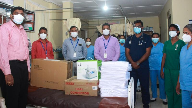 Unilever Ceytea donation of surgical equipment and other items to the Divisional Hospital in Lindula